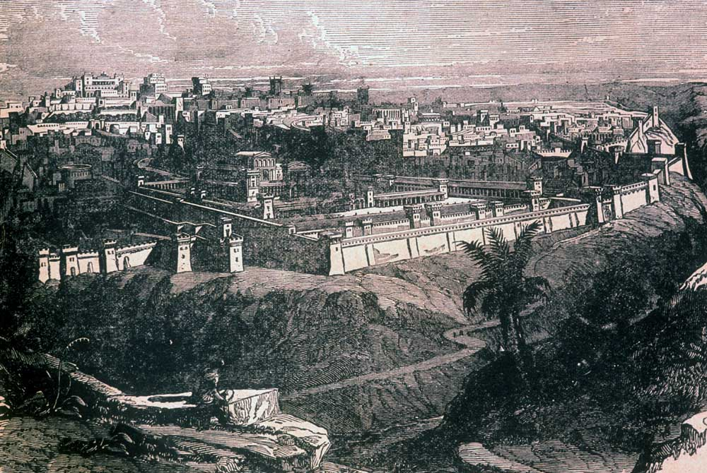Jerusalem as it looked in Jesus' time old litho