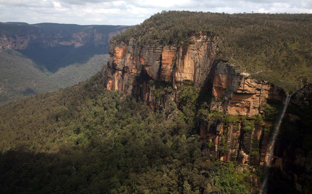 Govett`s Leap with waterfall Blue Mountains NSW Australia