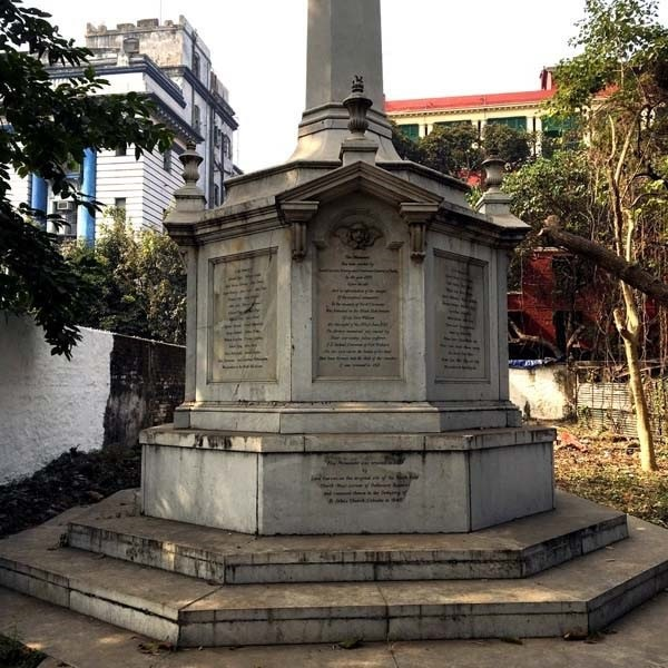 Monument to the 123 men who died in the Black Hole of Calcutta