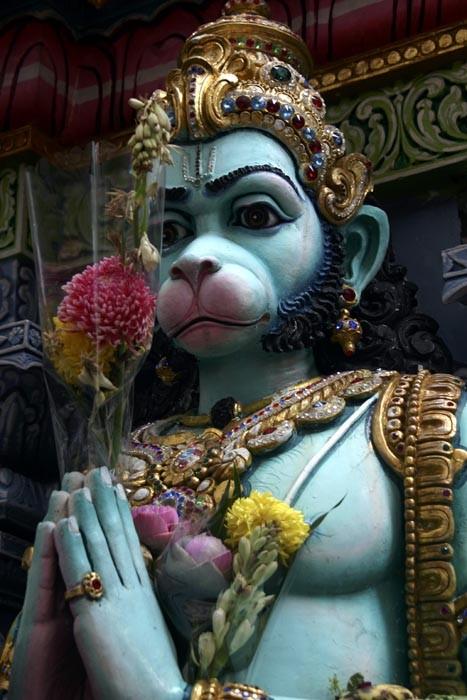 Hanuman the playful monkey-god from Ramayana