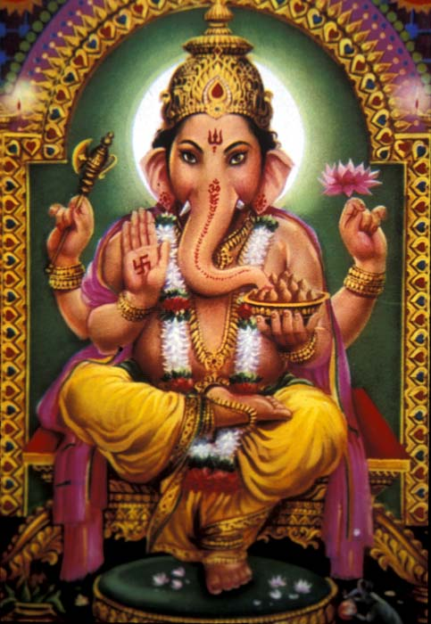 Ganesh, the fat god with the elephant-head is the son of Shiva and Parvati. He is one of the most widely worshipped deities by HIndus