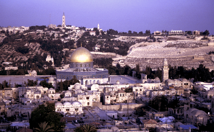 The Noble Sanctuary in East Jerusalem.