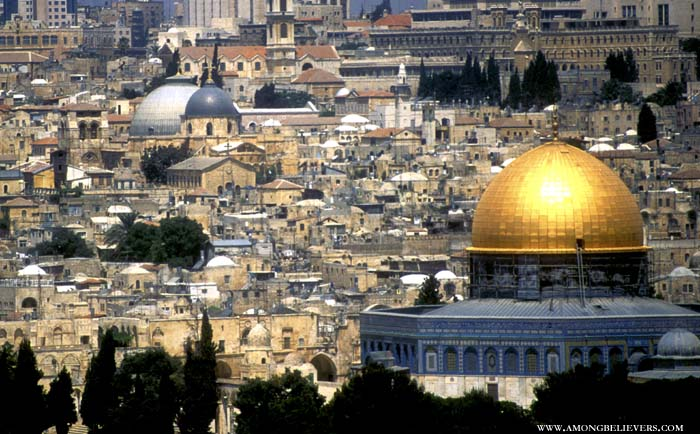 The Dome of the Rock in East Jerusalem.